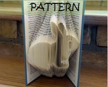 Book folding Pattern: RABBIT design by TheFoldedBookCompany