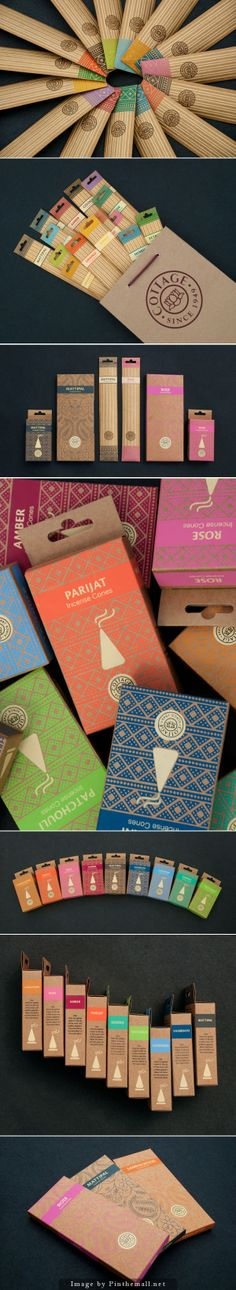 Nice brand and package design for incense cones / sticks. Honey Packaging, Tea Packaging, Food Packaging Design, Packaging Design Inspiration, Brand Packaging, Incense Packaging, Incense Cones, Incense Sticks, Graphic Design Studios
