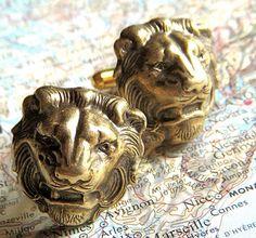 Hey, I found this really awesome Etsy listing at http://www.etsy.com/listing/76193050/mens-cufflinks-brass-lion-cufflinks-big