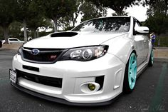 white with neon Light blue rims:)