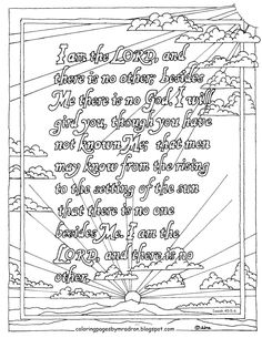 Coloring Pages for Kids by Mr. Adron: Speak Lord, Your