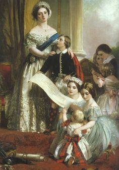 "pinkbasementgarden: ""Queen Victoria and seven of her nine children. """