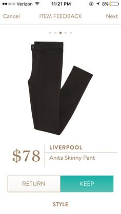 Liverpool Anita in black - perfect for work or weekend (and reviews make me believe they are a higher waist)