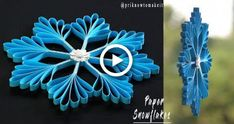 Snowflake - Paper snowflake - How to Make Paper Snowflakes for Christmas decorations Paper Snowflakes Easy, Diy Christmas Snowflakes, Paper Snowflake Patterns, How To Make Snowflakes, Diy Christmas Decorations Easy, Snowflake Decorations, Christmas Paper Crafts, Christmas Crafts, Snowflake Snowflake