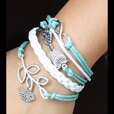 SALE $8 this weekend only Multi-layer Leather Cord Bracelet Jewelry Bracelets