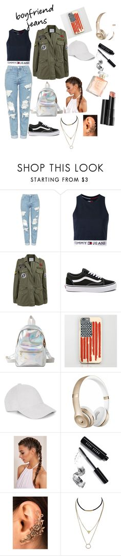 """boyfriend jeans"" by badgal-desi ❤ liked on Polyvore featuring Topshop, Tommy Hilfiger, Velvet by Graham & Spencer, Vans, Charlotte Russe, Le Amonie, Beats by Dr. Dre, Bobbi Brown Cosmetics and Arbonne"