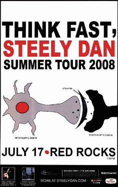 Concert poster for Steely Dan at Red Rocks in Denver, CO 2008.  11