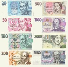 The Koruna from the Czech Republic (one of the few countries who have not yet converted their currency to the Euro). The unit of the Czech currency is the crown - ' koruna '. Czech Money, Norway News, Bank Account Balance, Prague Winter, Money Worksheets, World Thinking Day, Prague Travel, Money Bank, Financial Peace