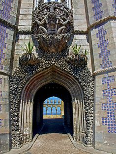.Monster doorway, Pena Palace, Sintra, Portugal