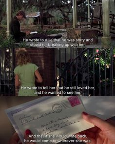 well, Allie would've gotten the letters if allie's mother wasn't so dumb.