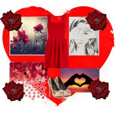 """Roses are Red❤"" by pinkmustachegleek13 ❤ liked on Polyvore"