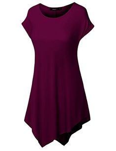 f6b65e3979c Bebonnie Women Short Sleeve Round Neck with Pockets Casual Loose ...