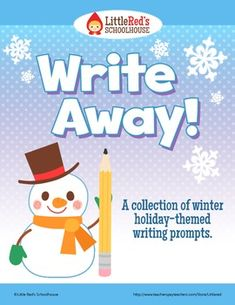 Free! Winter Holiday Write Away Writing Prompts