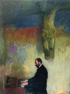Józef Pankiewicz, Jasieński przy fortepianie, 1908