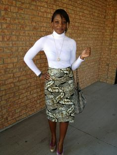 Simple Ankara Style: Short Ankara Skirt With White Top - DeZango Fashion Zone