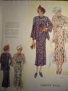 1935 McCall Pattern Book, featuring  McCall 8337 and 8344