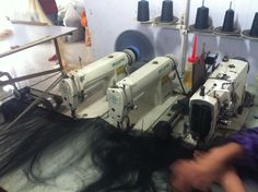 this is the wefting machine one of the most important machine in the hair industry