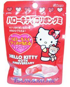 Kabaya x Sanrio Hello Kitty Apple & Peach Bow Shape Gummy Candy