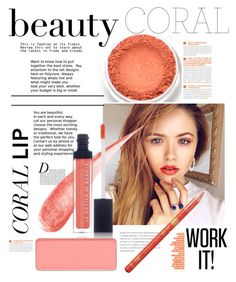"""Coral"" by stylejournals ❤ liked on Polyvore featuring beauty, Anja, Le Métier de Beauté, Barry M and shu uemura"