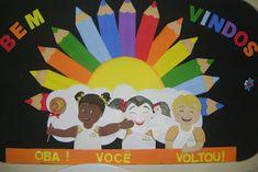 *** ALMIRA ARTES ***: Painel boas vindas Brad Pitt, Teachers' Day, Drawing For Kids, Children Drawing, Positive Quotes, Back To School, Safari, Art Drawings, Preschool