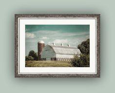 Weathered Barn and Silo Farmhouse Nostalgic by PaintedTulipStudio