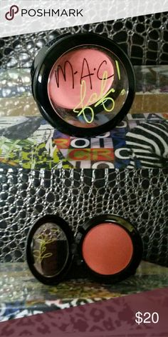 M.A.C. Fafi collection blush Limited edition. Color is Hipness. Never touched. Kind of a peachy shade with a slight frost. MAC Cosmetics Makeup Blush