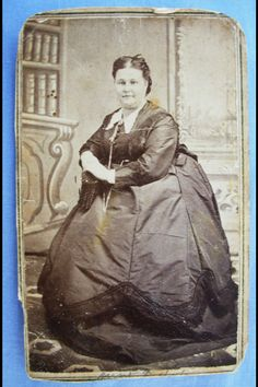 Civil War Era Plus Size Woman (CDV).  There doesn't seem to be many of these photos available.