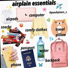travel essentials for kids ~ travel essentials ; travel essentials for women ; travel essentials carry on ; travel essentials for teenagers ; travel essentials for kids Airplane Essentials, Travel Bag Essentials, Travel Necessities, Road Trip Essentials, Beauty Essentials, Summer Essentials, Vsco Essentials, Beauty Hacks, Travel Packing Checklist