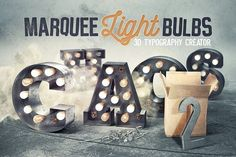 Marquee Light Bulbs 2 - Chaos by tvartworks on @creativemarket