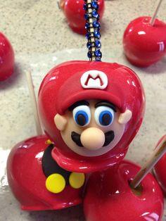 Custom Super Mario Bros candy apples!