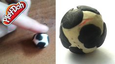 football ball with play dough making tutorial Play Dough, Football, Soccer, Futbol, American Football, Soccer Ball, Play Doh, Modeling Dough, Rugby