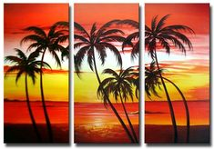 Towering Palms Canvas Wall Art