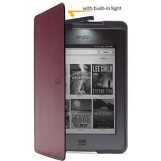 Kindle Touch Lighted Leather Cover, Wine Purple. Check out more covers at ===> www.kindlelightedcover.coverforkindle.org