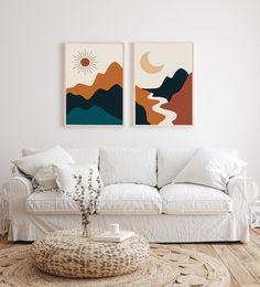 Modern Art Prints, Wall Art Prints, Modern Artwork, Wall Art Decor, Wall Art Boho, Mural Wall Art, Wall Art Sets, Diy Wall Art, Bedroom Artwork