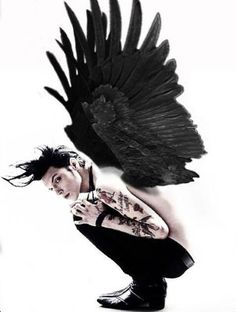 Andy Biersack in his true form.<<<< his true form is Batman what are you talking about