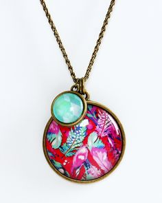 Scattered Feathers in Red - Large Pendant | Hello Lovely