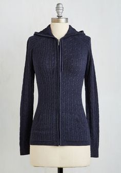 Layer to Rely On Hoodie in Navy