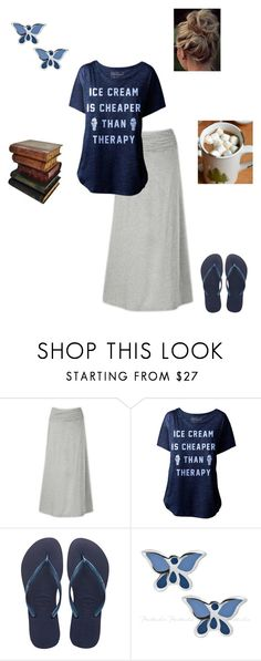 """""""This is me..."""" by georgia-girl15 ❤ liked on Polyvore featuring The North Face, Havaianas and Gump's"""