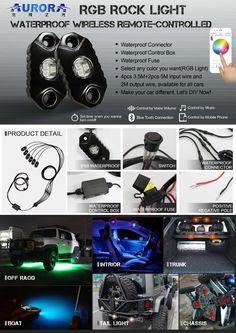Hot Selling Waterproof RGB Rock Light For Offorad, View Waterproof RGB Rock  Light For Offorad Pictures