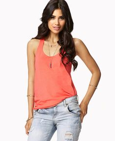 $5.80 - Relaxed Fit Racerback Tank | FOREVER21 - 2021841296