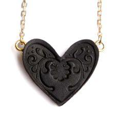 Sweet Black Heart Small Pendant