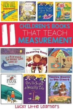 Woodworking Program Children's books that teach measurement - Measurement is one of those math concepts that can be really fun and hands-on to teach – but it can. Measurement Kindergarten, Measurement Activities, Kindergarten Math, Math Activities, Math Measurement, Math Resources, Math Enrichment, Length Measurement, Math Literacy