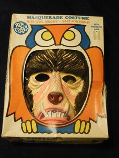 1965 wolfman monster halloween costume mask ben cooper universal pictures box
