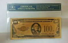 1928 100$ One Hundred Dollar Bill Reserve Note Gold Clause Certificate Gold Foil Gold Foil, Certificate, The 100, Notes, Pure Products, Personalized Items, Ebay, Report Cards, Notebook