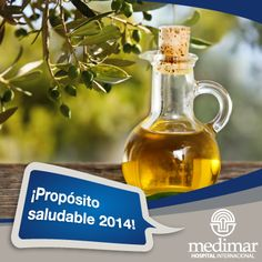 """Colesterol bajo control este 2014. Sustituye en tu dieta las """"grasas malas"""" por grasas buenas como aceite de oliva en crudo, pescado azul y frutos secos. Es un consejo de la Ud. de Nutrición del H.I. Medimar"""