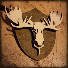 Items similar to Moose - wooden wall deco [WoodWorx] on Etsy Cardboard Sculpture, Make Design, Wooden Walls, Scandinavian, Diy And Crafts, Vintage Items, Moose Art, Handmade Gifts, Products
