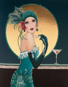 Image result for 1920s fashion illustration poster art deco
