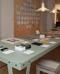 Lloyd table, by christoph Seyferth.  photo by Loes van Gennip.