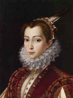 Scipione Pulzone (Gaeta, c. 1542 or 1543 – February 1, 1598), also known as Il Gaetano - portrait of an unknown woman, c.1575 - possibly, Vittoria Accoramboni Orsini (1557-85).
