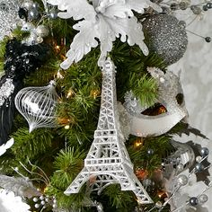 This is what my tree is missing! Ornaments from the Silver Snowfall holiday collection #Christmas
